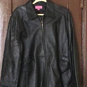 Black leather jacket 3X.